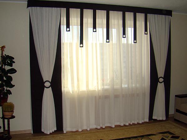 Фото новинок штор для зала - Вариант 17