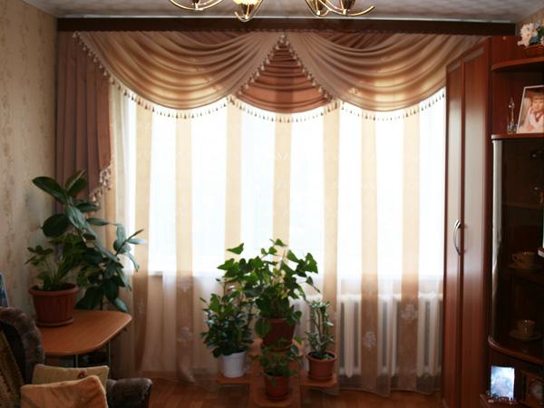 Фото новинок штор для зала - Вариант 36