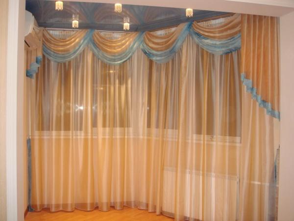 Фото новинок штор для зала - Вариант 1