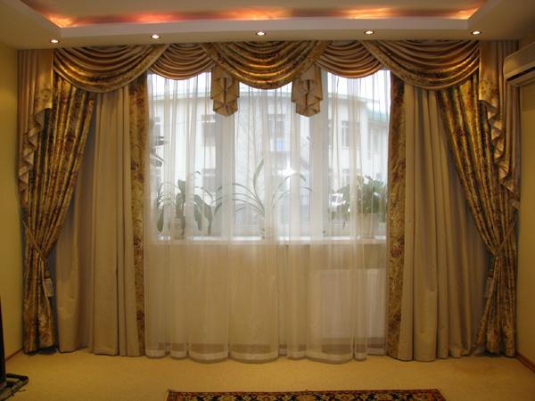 Фото новинок штор для зала - Вариант 9
