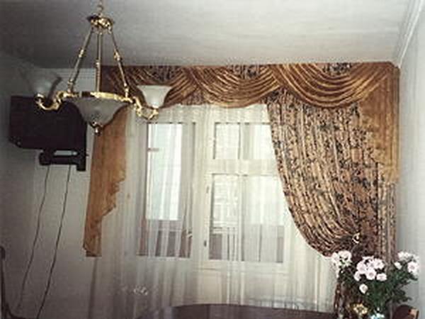 Фото новинок штор для зала - Вариант 23
