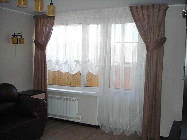 Фото новинок штор для зала - Вариант 43