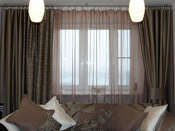 Фото новинок штор для зала - Вариант 10