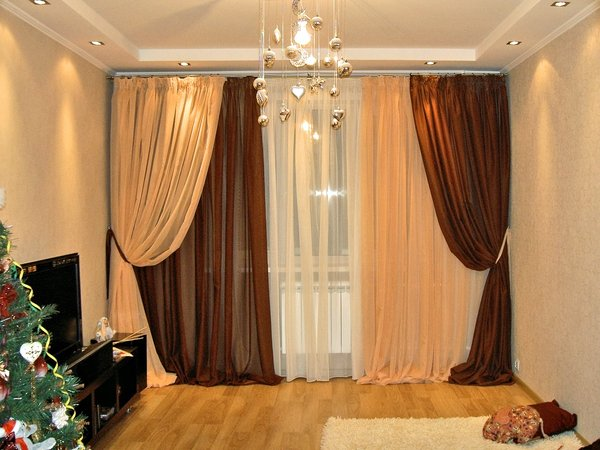 100 вариантов фото новинок штор в гостиную - Вариант 1