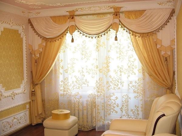 100 вариантов фото новинок штор в гостиную - Вариант 2