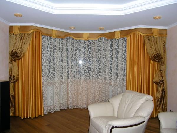 100 вариантов фото новинок штор в гостиную - Вариант 6