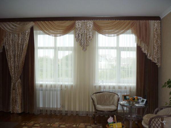 100 вариантов фото новинок штор в гостиную - Вариант 9