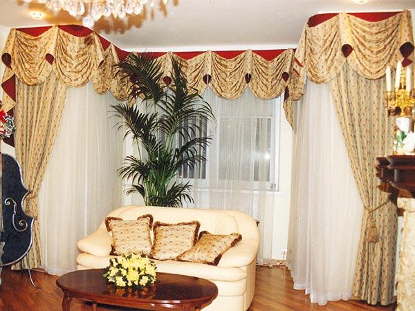 100 вариантов фото новинок штор в гостиную - Вариант 15
