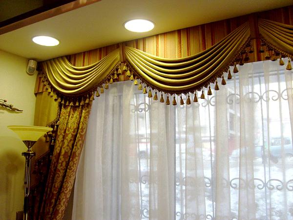 100 вариантов фото новинок штор в гостиную - Вариант 37