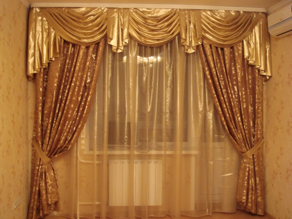 100 вариантов фото новинок штор в гостиную - Вариант 22