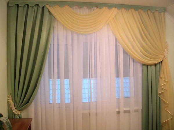 100 вариантов фото новинок штор в гостиную - Вариант 36