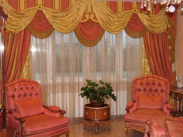 100 вариантов фото новинок штор в гостиную - Вариант 26
