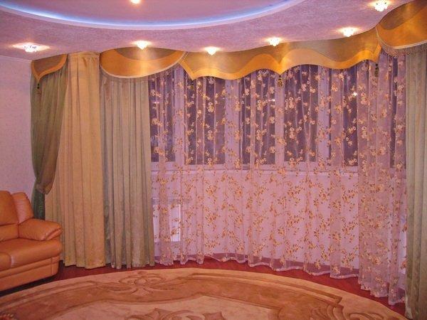 100 вариантов фото новинок штор в гостиную - Вариант 32