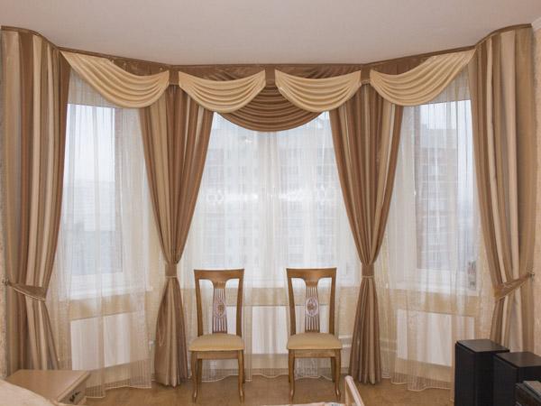 100 вариантов фото новинок штор в гостиную - Вариант 45