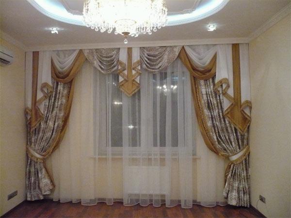 100 вариантов фото новинок штор в гостиную - Вариант 27