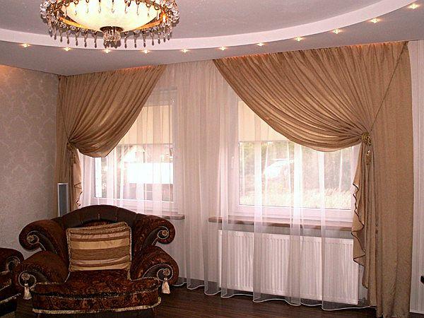 100 вариантов фото новинок штор в гостиную - Вариант 24