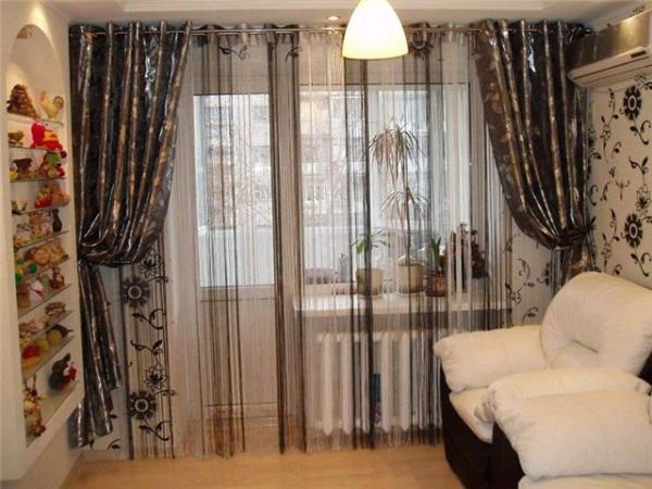 100 вариантов фото новинок штор в гостиную - Вариант 42