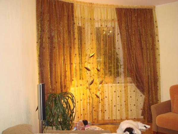 100 вариантов фото новинок штор в гостиную - Вариант 44