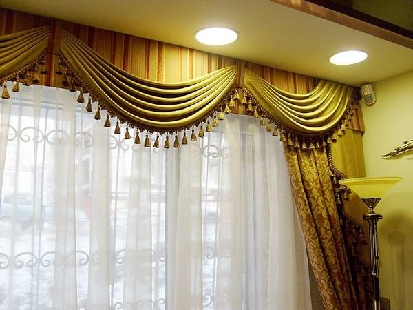 100 вариантов фото новинок штор в гостиную - Вариант 49