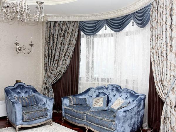 100 вариантов фото новинок штор в гостиную - Вариант 38