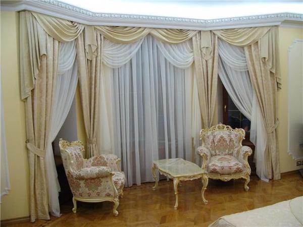 100 вариантов фото новинок штор в гостиную - Вариант 60