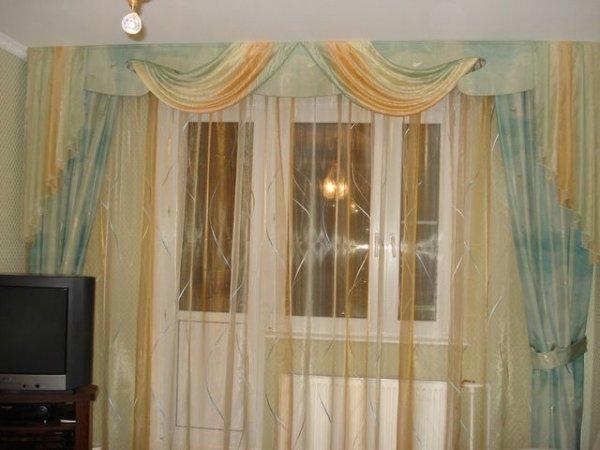 100 вариантов фото новинок штор в гостиную - Вариант 47