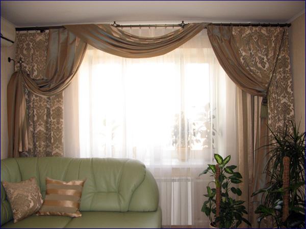 100 вариантов фото новинок штор в гостиную - Вариант 59