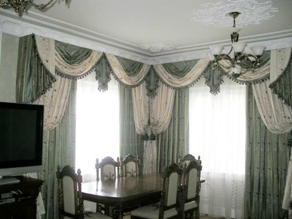 100 вариантов фото новинок штор в гостиную - Вариант 52