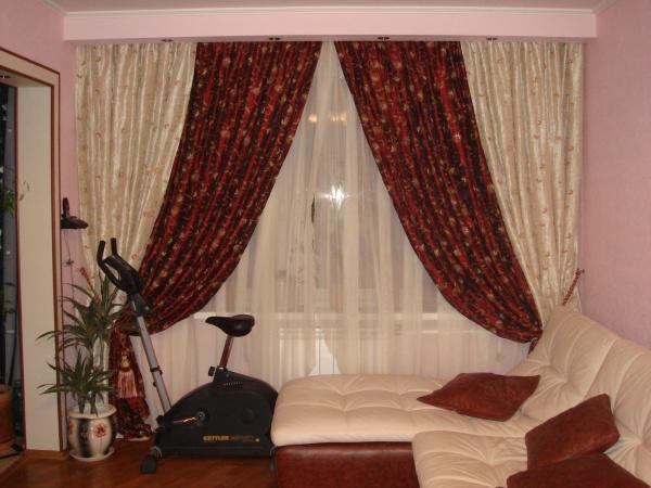 100 вариантов фото новинок штор в гостиную - Вариант 53