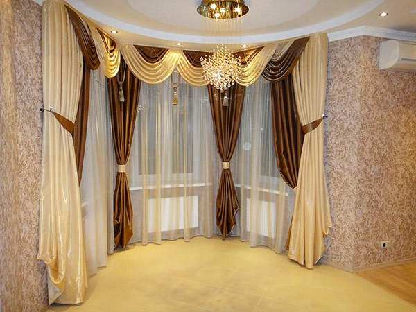 100 вариантов фото новинок штор в гостиную - Вариант 77