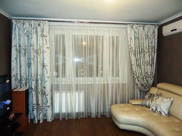 100 вариантов фото новинок штор в гостиную - Вариант 82
