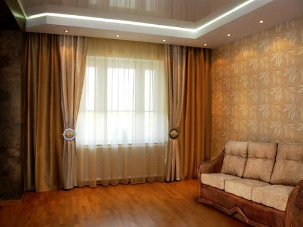 100 вариантов фото новинок штор в гостиную - Вариант 90