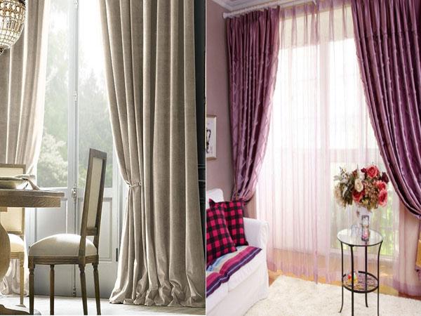 Отличное сочетание изысканных штор в интерьере