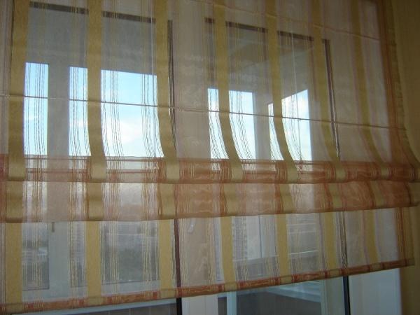 Вариант штор для кухни №2