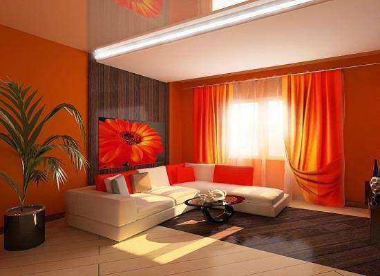 Дизайн гостиной фото в красных тонах
