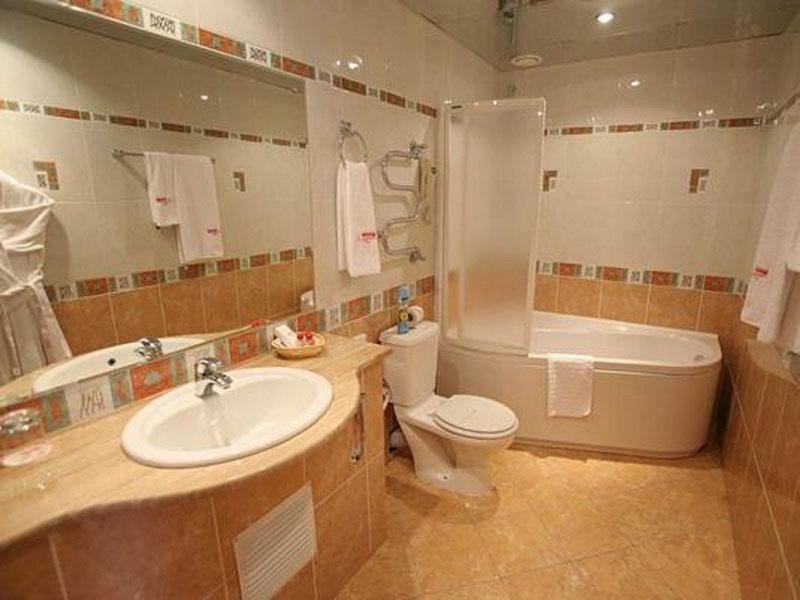 Дизайн большой ванной комнаты совмещенной с туалетом