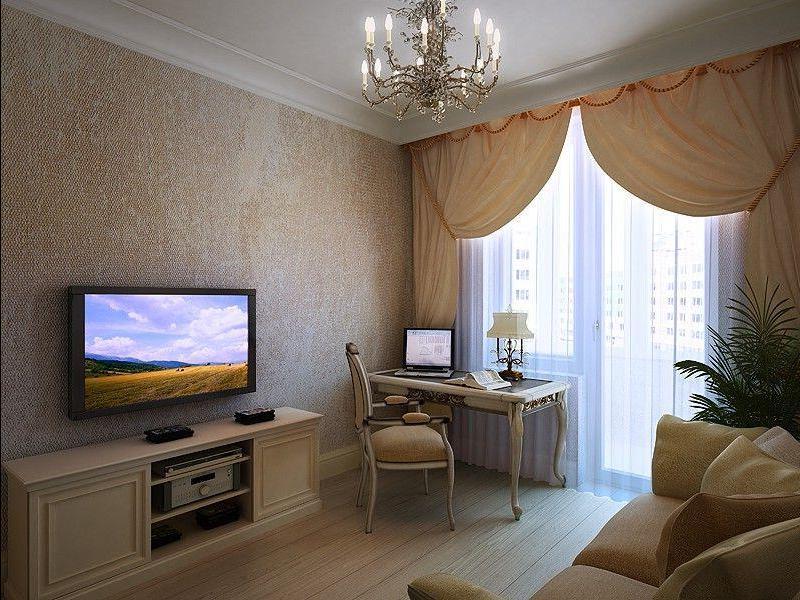 Дизайн обоев для однокомнатной квартиры
