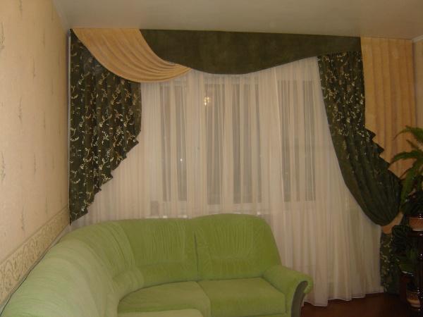 100 вариантов фото новинок штор в гостиную - Вариант 12