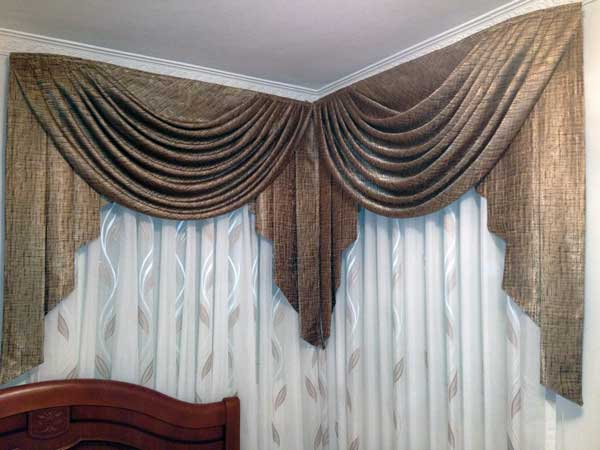 100 вариантов фото новинок штор в гостиную - Вариант 13
