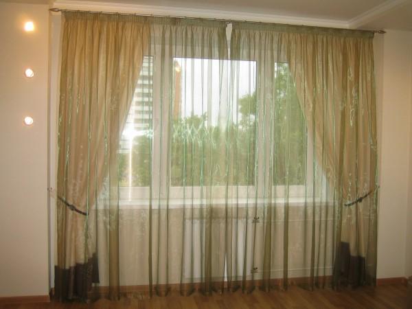 100 вариантов фото новинок штор в гостиную - Вариант 17