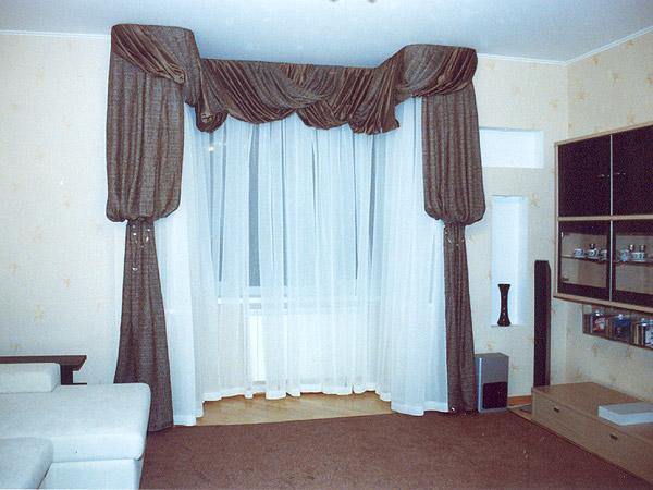 100 вариантов фото новинок штор в гостиную - Вариант 16