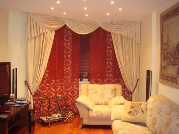 100 вариантов фото новинок штор в гостиную - Вариант 11