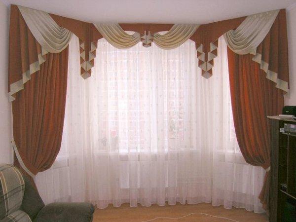 100 вариантов фото новинок штор в гостиную - Вариант 28