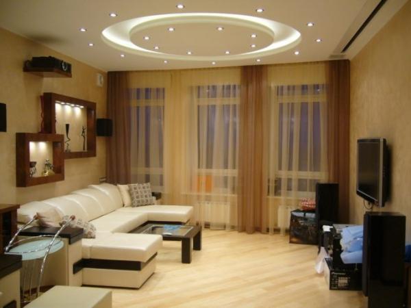 100 вариантов фото новинок штор в гостиную - Вариант 40