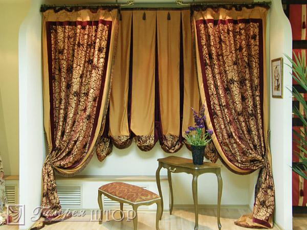 100 вариантов фото новинок штор в гостиную - Вариант 56