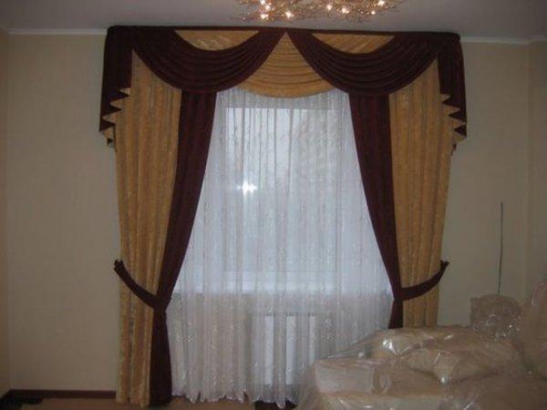 100 вариантов фото новинок штор в гостиную - Вариант 46