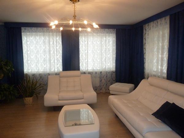 100 вариантов фото новинок штор в гостиную - Вариант 62