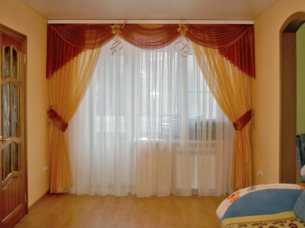 100 вариантов фото новинок штор в гостиную - Вариант 89