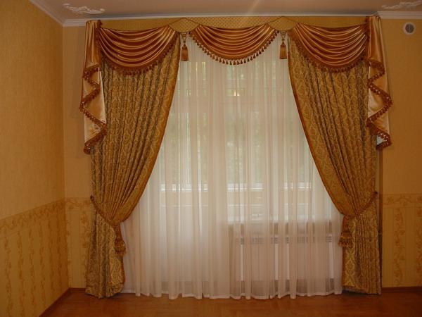 100 вариантов фото новинок штор в гостиную - Вариант 83
