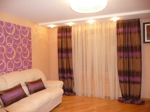 100 вариантов фото новинок штор в гостиную - Вариант 87